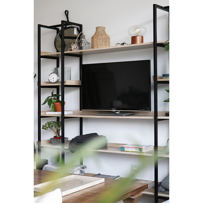Mueble Tv Industrial Ra Z Negra