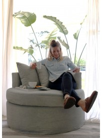 SOFA CIRCULAR con funda NATURAL