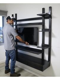 Mueble de TV ASPEN ROCK BLACK
